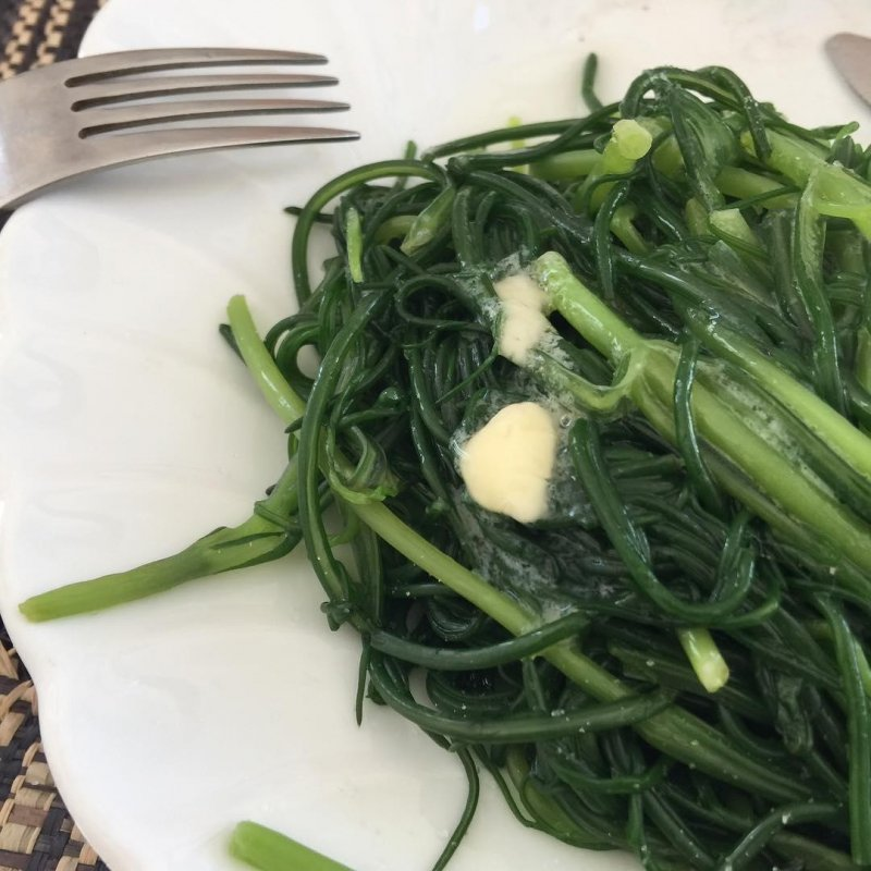 Welcome back to my plate, agretti.