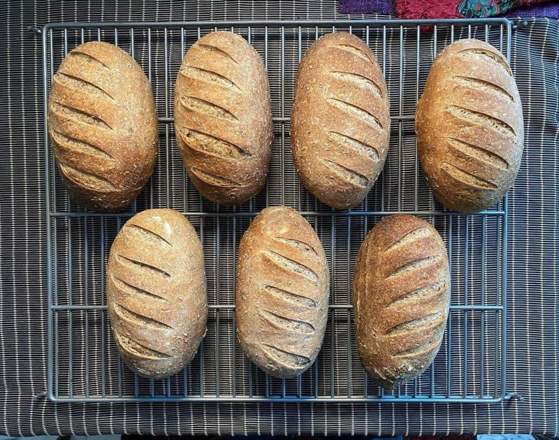 Today, I will mostly be baking light rye sourdough with caraway seeds.