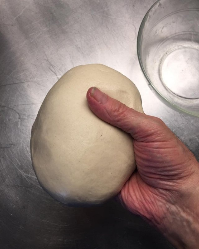 When you've been doing high hydration sourdough for a good long while, it is nice to be reminded what a pleasure kneading is and the way the dough comes to life beneath your hands.