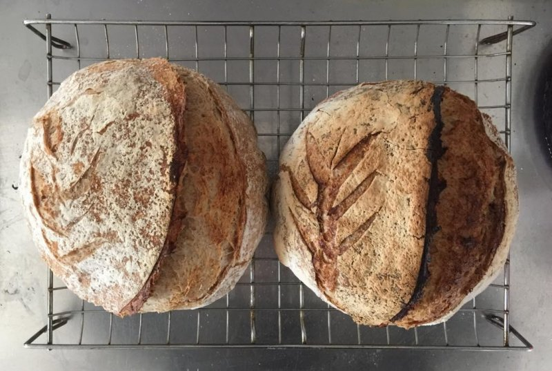 And done. Rustic loaves.