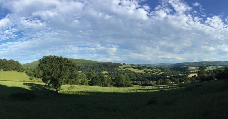 View from Henbant Fawr, where we are staying.