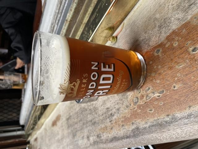 A pint of Fuller's London Pride