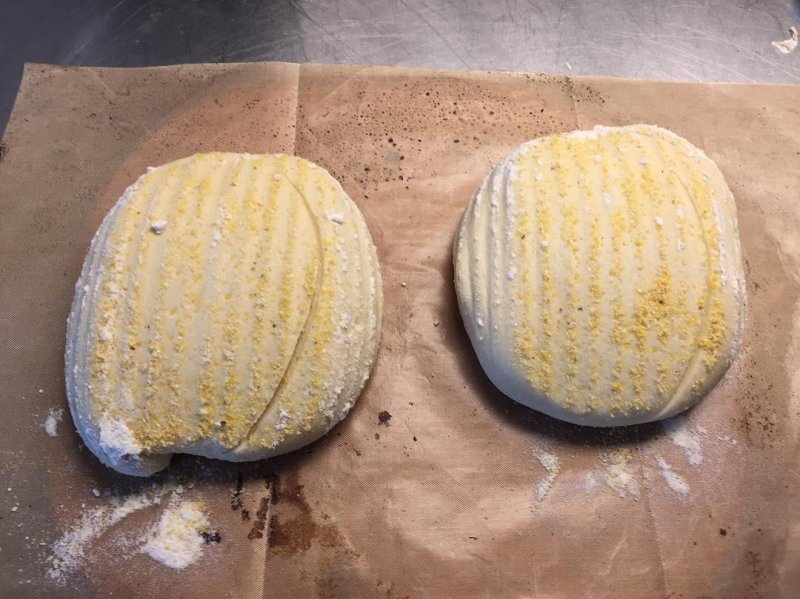 They go in ... They come out 20% maize flour sourdough