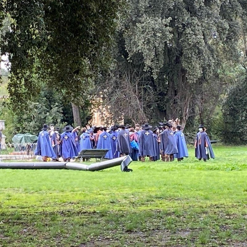 Strange goings on in the park this afternoon.