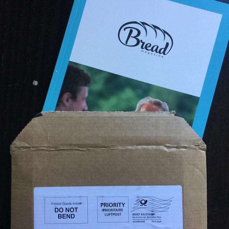 This is exciting, the first ever print issue from bread-magazine.com. Happy to have bought into this.